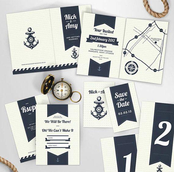 Nautical Invitation Set