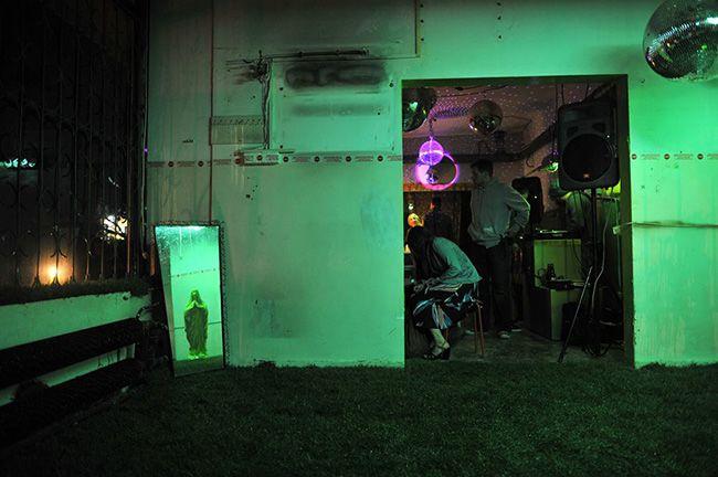 """Joanna Zastrozna,  """"Pralnia Chemiczna"""", Installation, 2013, Artloop Festival."""