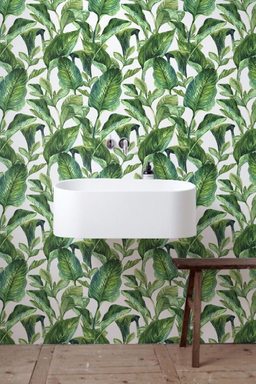 30% OFF from Tropical wallpaper, Bananna leaves wallpaper, Wall Stickers, BW017