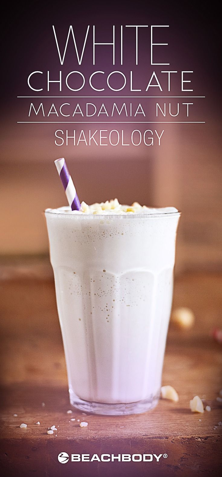 This White Chocolate Macadamia Nut Smoothie tastes like one of your favorite cookies, but drinks like a nutritious breakfast! // Shakeology // Recipe // Recipes // Shakeology Recipes // White Chocolate // Macadamia Nut // Smoothies // Beachbody // BeachbodyBlog.com