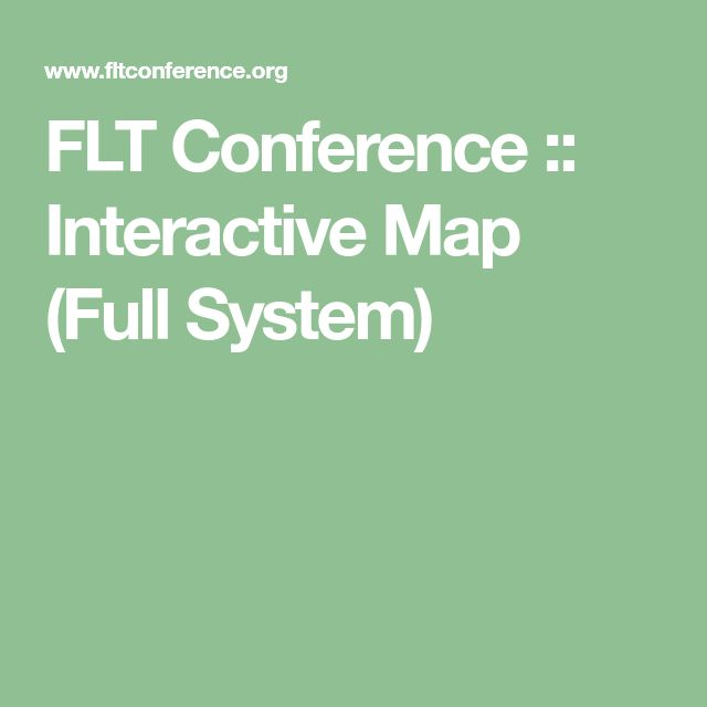 FLT Conference :: Interactive Map (Full System)