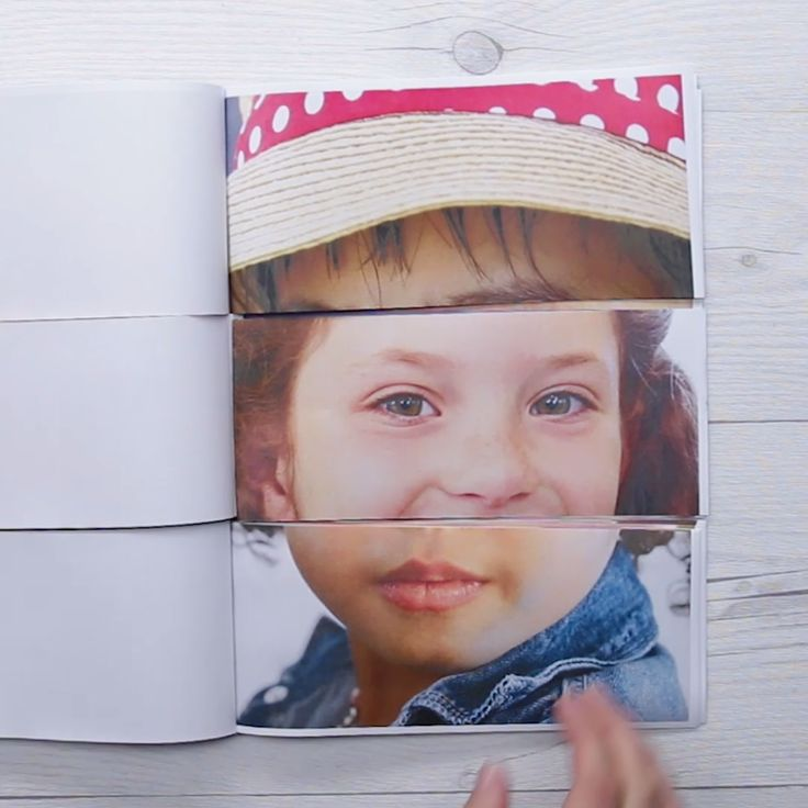 Funny Face Flip Book // #diy #crafts #flipbook