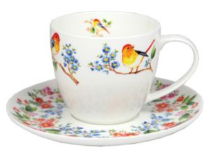 Ashdene Tree Of Life Teacup & Saucer $14.45 - Tree Of life reflects the natural beauty of the world around us. Birds singing uplifting melodies and chirp merrily to herald the new day. The bountiful branches of fruit and flora celebrate the wonderful creations of Mother nature.  Bone China
