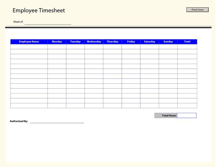 printable time sheets