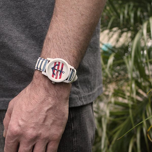 The Sprout Nautical Big Stripe looks great on Mike. #ecoguardian