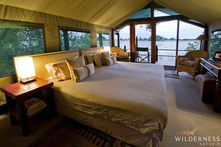 Jacana Camp - Each tent has an enclosed en-suite bathroom. #Africa #Safari #Botswana