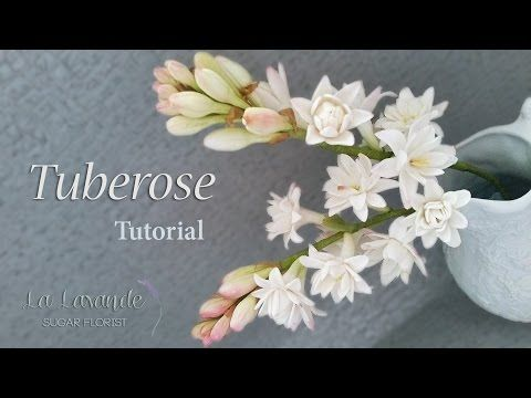 How to make a Gumpaste Tuberose Flower Tutorial - YouTube