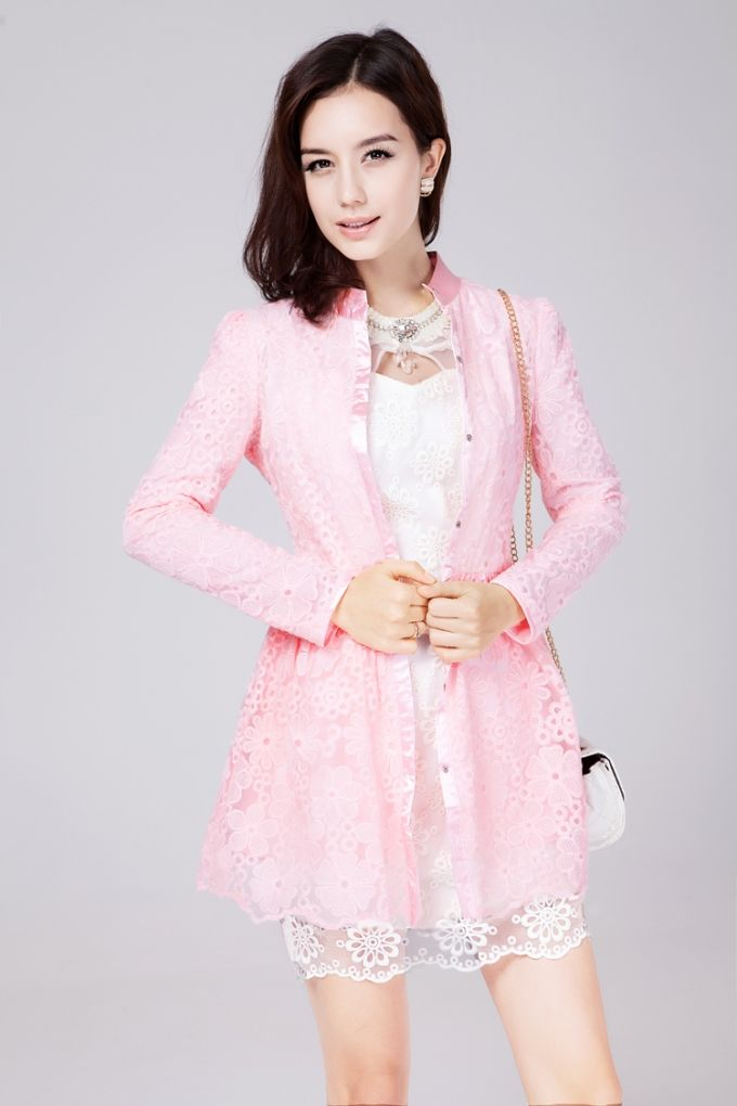 Lovely Cute Gauze Trench Coat
