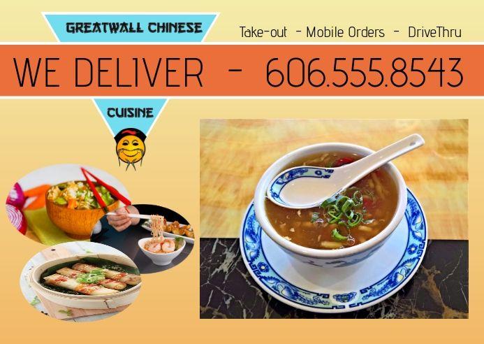 Chinese Food Asian Restaurant Menu Postcard In 2020 Asian Restaurants Menu Restaurant Chinese Food