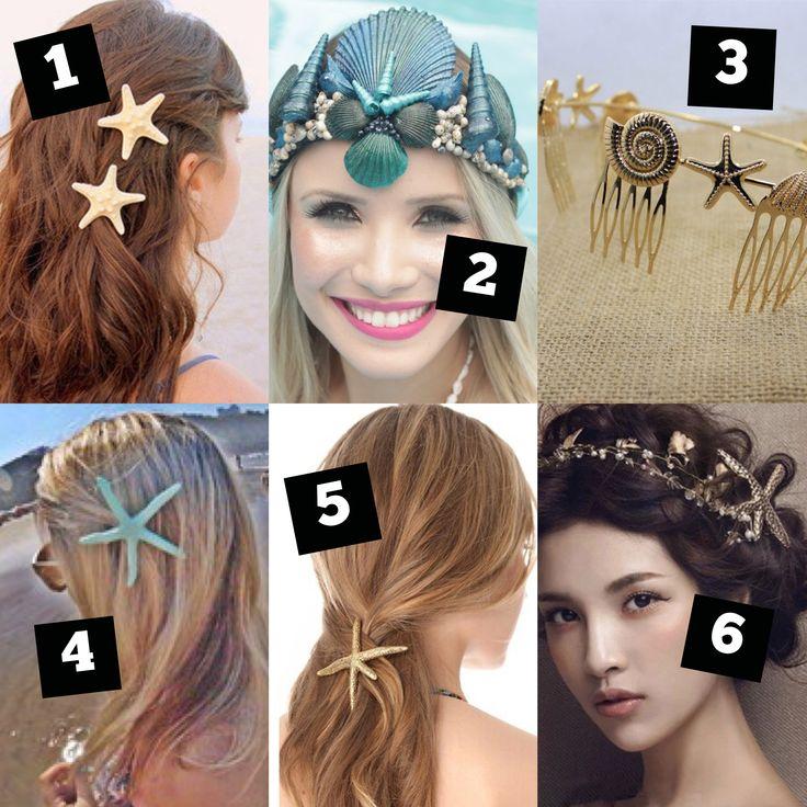 Onde Comprar Roupas e Acessórios de Sereia – concha, coroa, cabelo, estrela do mar, tiara, sereismo, praia, mar, beach, mermaid, sereia, acessórios.