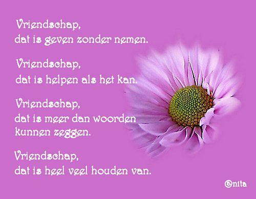 Vriendschap dat is ......
