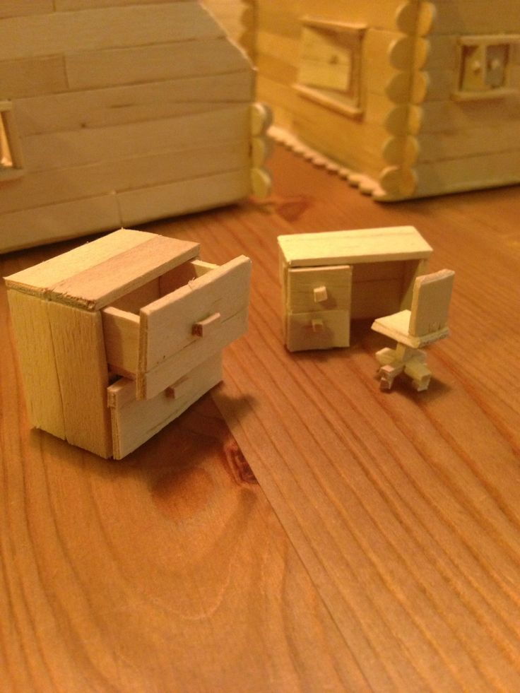 Decided To Build A Popsicle Stick House It Got A Little