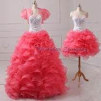 Por Encargo Vestido 15 Años Desmontable 2en1 Color Eleccion