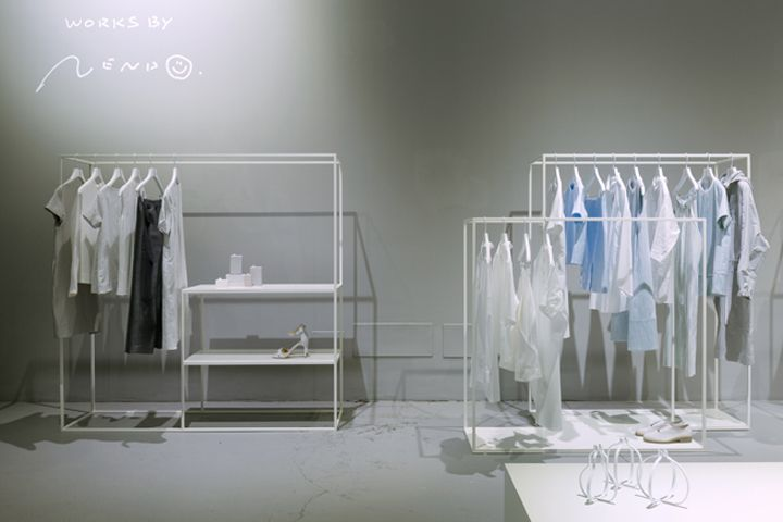 cos fashion brand installation by nendo milan italy. Black Bedroom Furniture Sets. Home Design Ideas