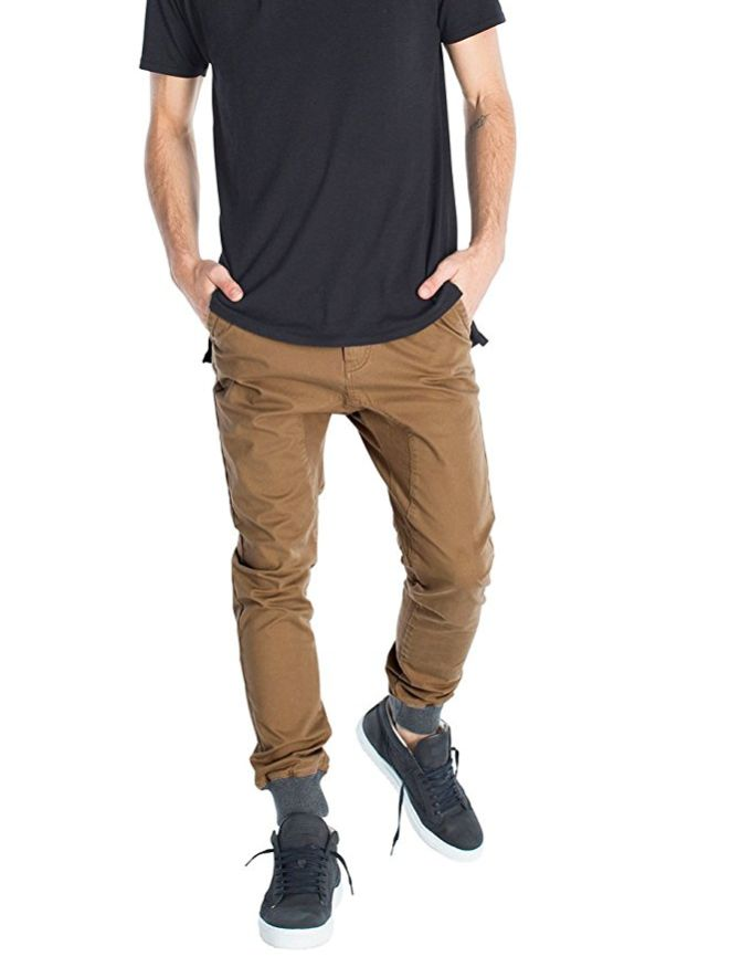 Italy Morn Chino Jogger Pants Button Closure Elastic Cuff Jogger Fashion Style