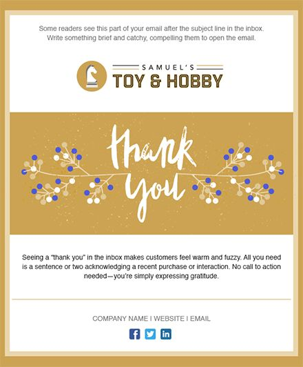 104 best Email Templates from Constant Contact images on Pinterest - thank you email template