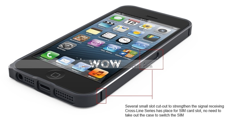 WOWCase, Cross-Line SP-5 Series Aluminum Ultrathin iPhone 5 Case-Gray [043244] : iPhone Case, iPad Case iwowcase.com