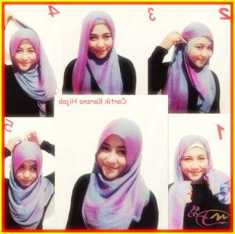 Tutorial Hijab Segi Empat Cepat Dengan Jenis Kerudung Paris - arenawanita.com