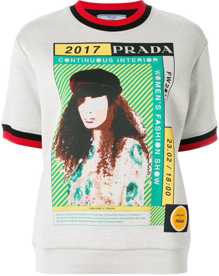 Prada 2017 motif T-shirt