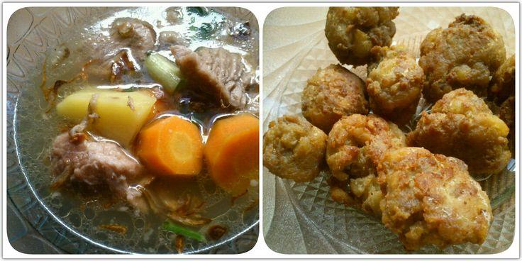 Sup Buntut (Kiri) dan Perkedel Daging (Kanan)