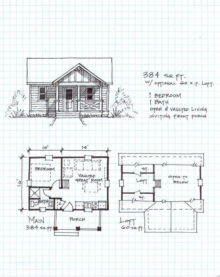 17 best ideas about cabin plans with loft on pinterest for Simple cabin plans with loft