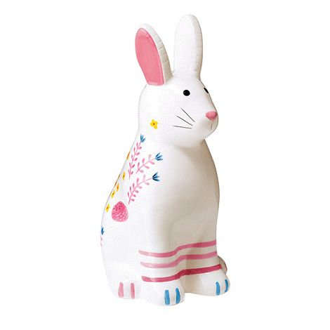 Decorate your home with this adorable figurine. 13 cm L x 11 cm W x 23 cm H. Ceramic. For decorative use only. Keep out of reach of children.