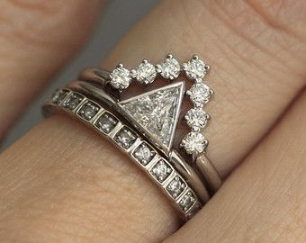 Birne Diamant-Verlobungsring Matching Marquise von MinimalVS