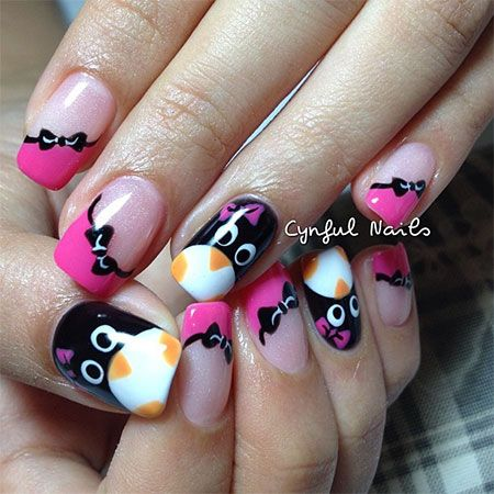 Simple Penguin Nail Art Designs & Ideas 2013/ 2014