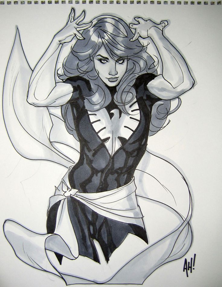 Dark Phoenix by Adam Hughes at Supercon 2009