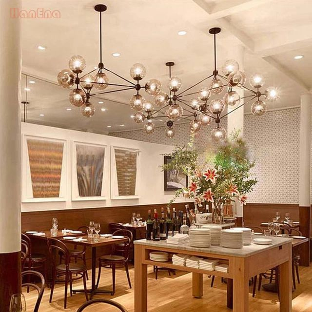 3 5 10 15 21 head led modo chandelier magic dna light for Dining room globe lighting