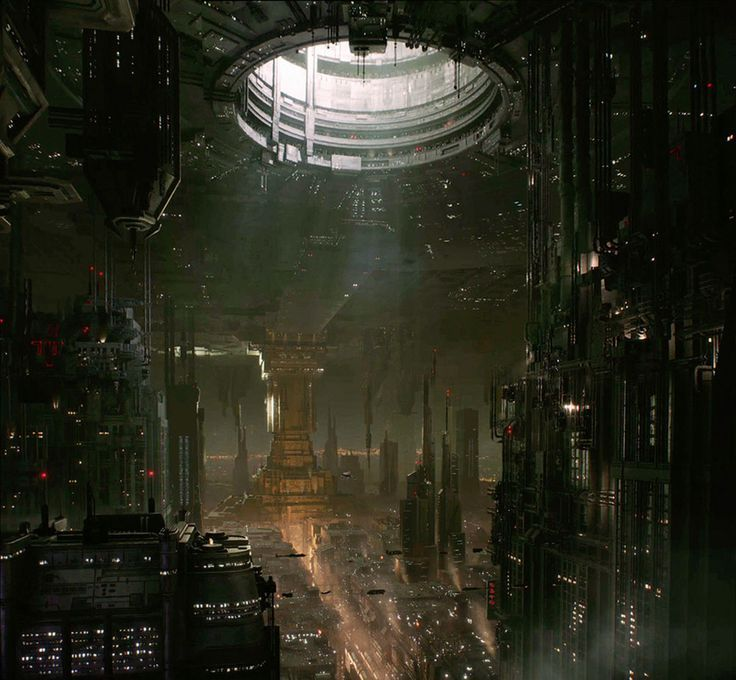 """""""Coruscant Underworld"""" // Star Wars 1313, Game Concept Art (game cancelled after Disney's purchase of SW Property) http://amzn.to/28Q7Vu6 Your Ashley"""
