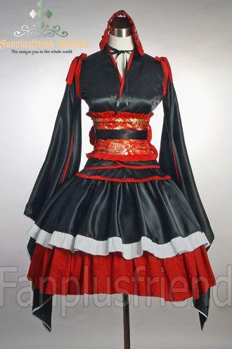 Cutie Gothic Lolita,Wa Loli,Japan Kimono/Yukada Set*5pcs