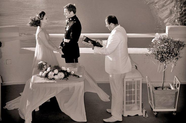 Santorini Wedding ceremony by Travel Zone Greece wedding organisers