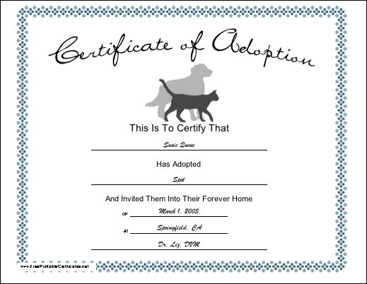 8 best Charts images on Pinterest Doggies, Dogs and Animais - fresh cat birth certificate free printable
