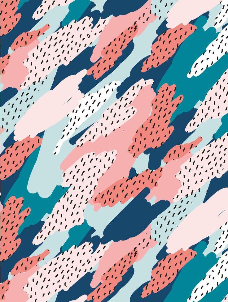 « Blot » de la gamme Memphis, inspiration du mouvement italien des années 80! Une création PaperMint, nouvelle marque parisienne de décoration murale.