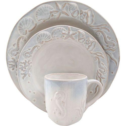 seashell dinnerware   Dinnerware Set, Seashell Dinnerware Set, Dishwasher Safe Dinnerware ...