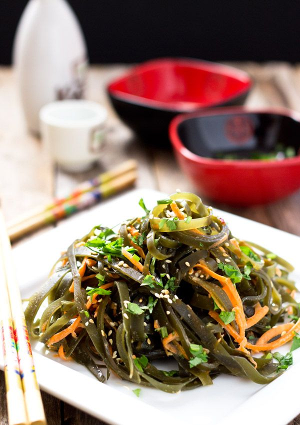 Chinese Seaweed Salad (Kombu) | Light Orange Bean