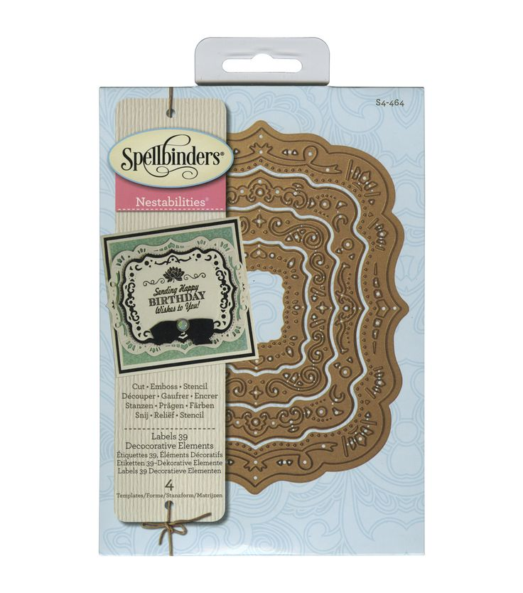 Spellbinders Nestabilities Labels 39 Decorative Elements Dies