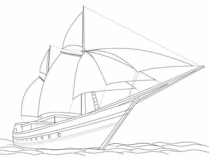 Mewarnai Kapal Layar Nelayan Image Muslim