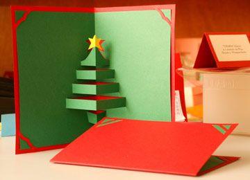 Artesanato - NippoBrasil .::. Cartão de natal com kirigami