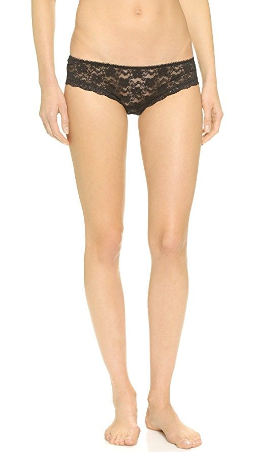 Free People Lace Hipster | Floral lace Free People panties styled with scalloped edges. Picot-trimmed elastic waistband. Jersey gusset. Semi-sheer. Shell: 95% nylon/5% spandex. Lining: 100% cotton. Wash cold. Imported, China.