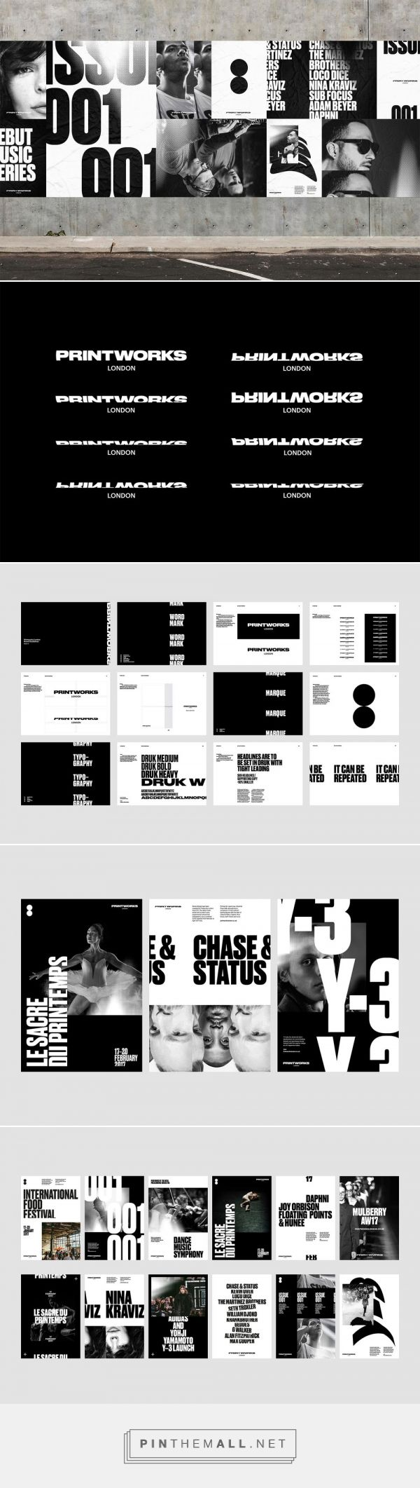Printworks London by Only Studio — The Brand Identity - created via https://pinthemall.net