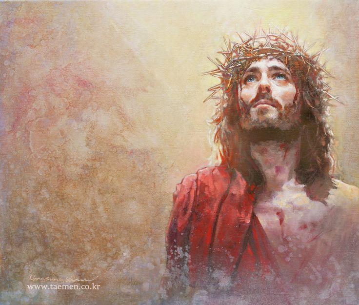 King of love-Jesus of Nzareth/ oil on canvas / 53×45.5cm
