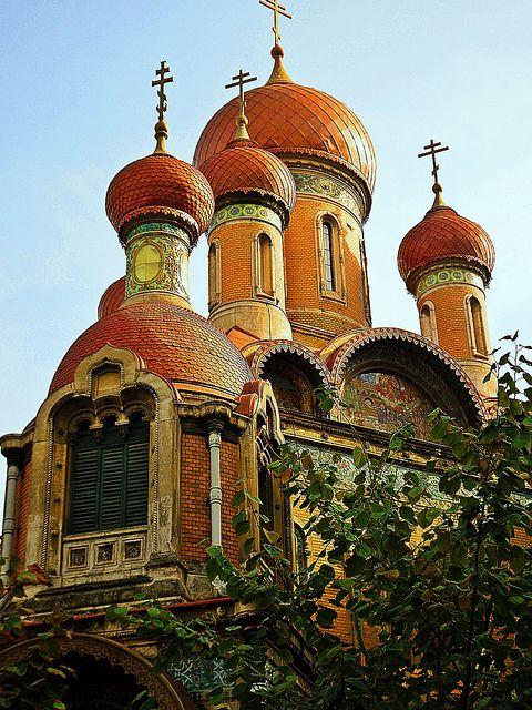 St. Nicholas Russian Church, Bucharest, Romania by Ramona R***