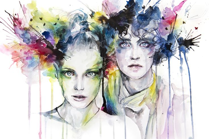 Skies On Fire by Agnes Cecile. Beautiful.