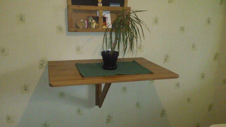 Köksbord, klaffbord, väggmonterat på Tradera.com - Köksmöbler | Möbler |