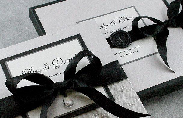 Black and white wedding invitations // By Huetopia Design. #wedding #stationery #invitations