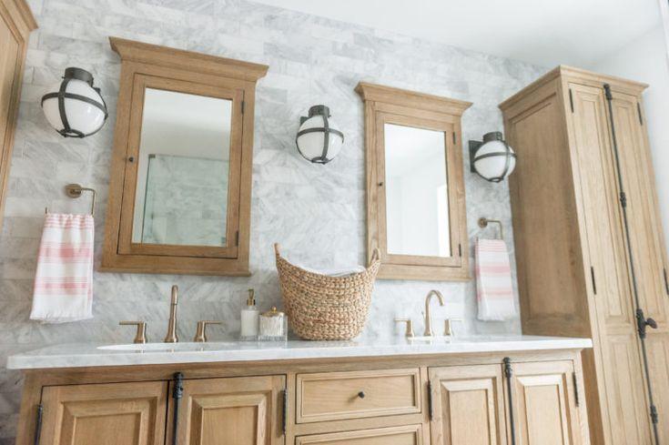 Modern Boho Bathroom Renovation Reveal – The Leslie Style – Bathroom Remodel Ideas