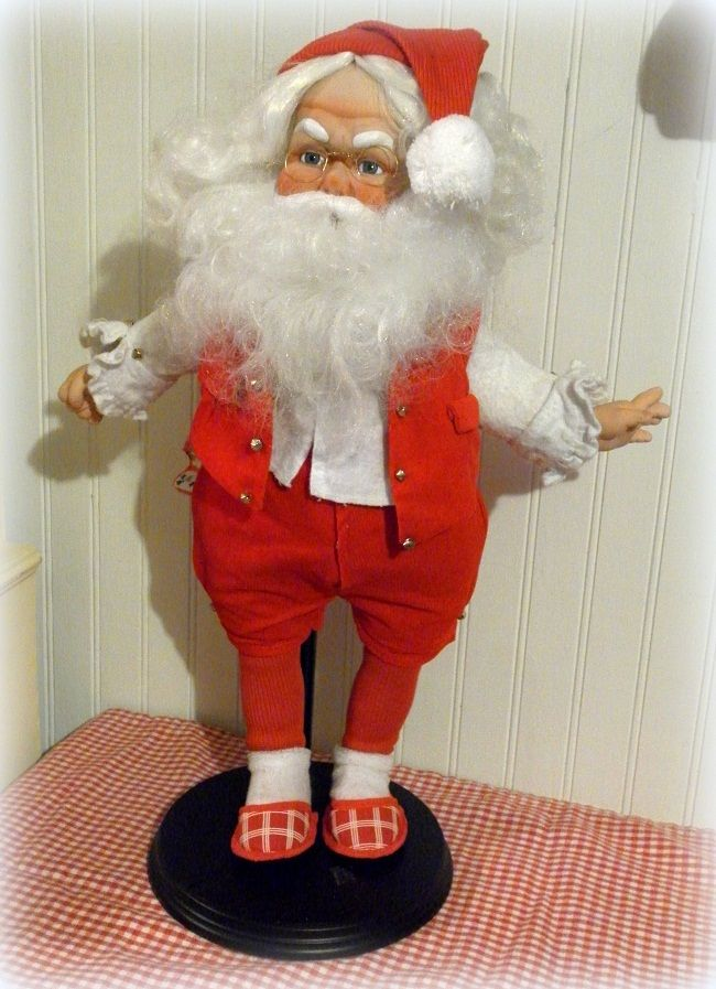 how to make a santa claus doll at home