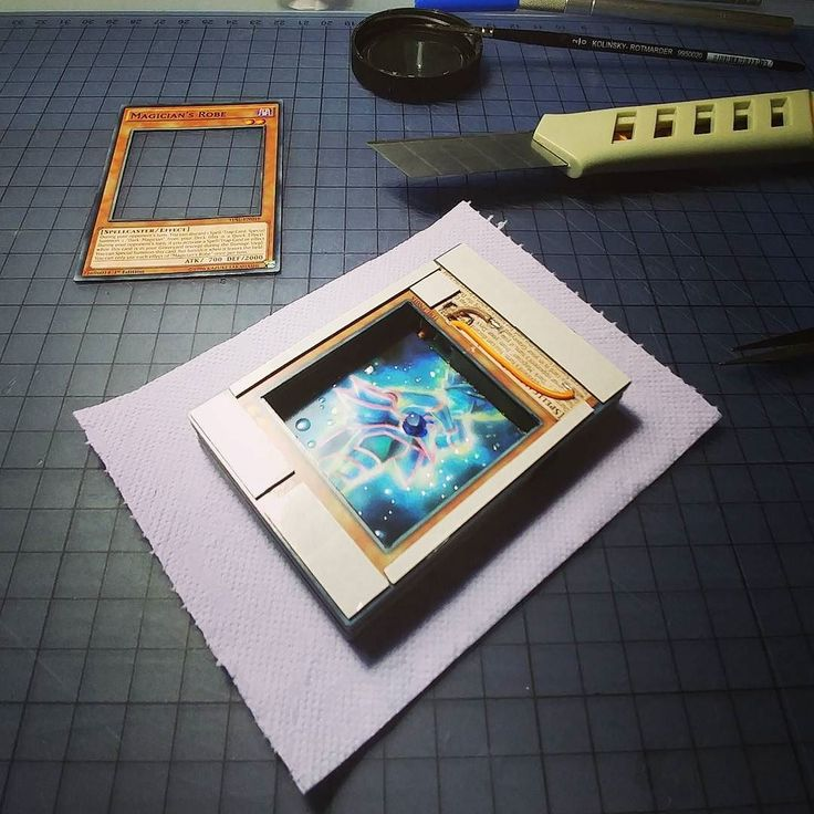 Almost there!  #progress #wip #3d #cards #led #electronics #yugioh #crafts #paper #art #miniature